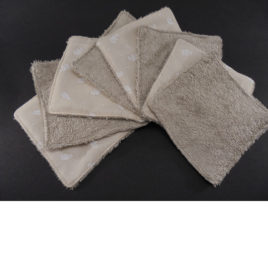 Lingettes bambou taupe coton ours