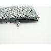 Pochette femme blanche motifs noirs et gris