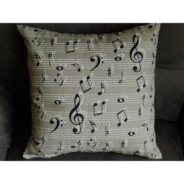 Housse de coussin notes de musique 40x40