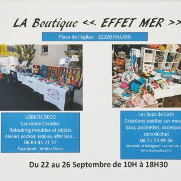 Boutique Effet Mer Hillion septembre 2020