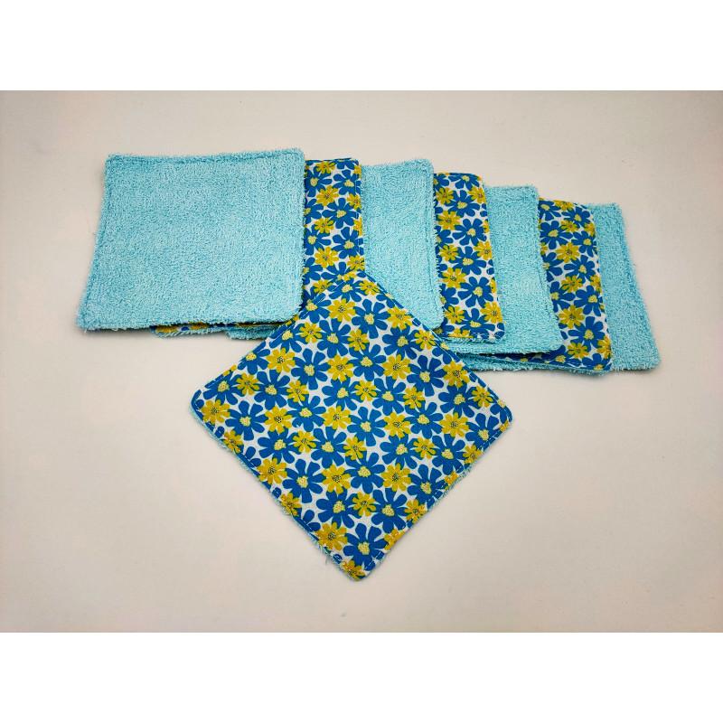 Lingettes-bambou-bleu-fleurs-bleu-jaune