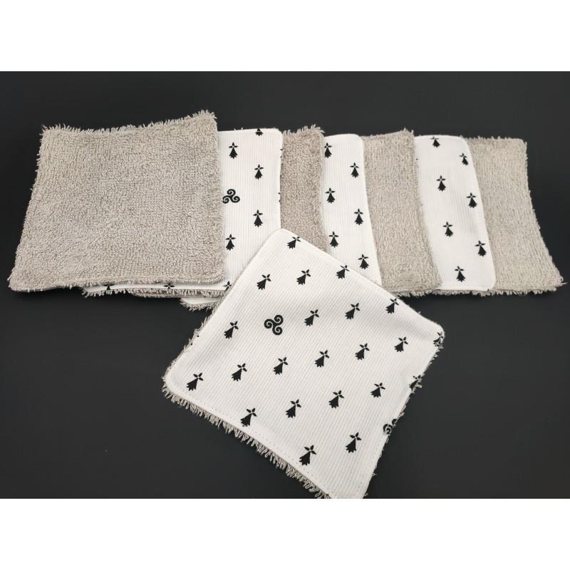 Lingette blanche hermine noire