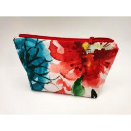 Pochette colorée fleur rouge