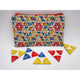 Pochette triangles colorés enduite