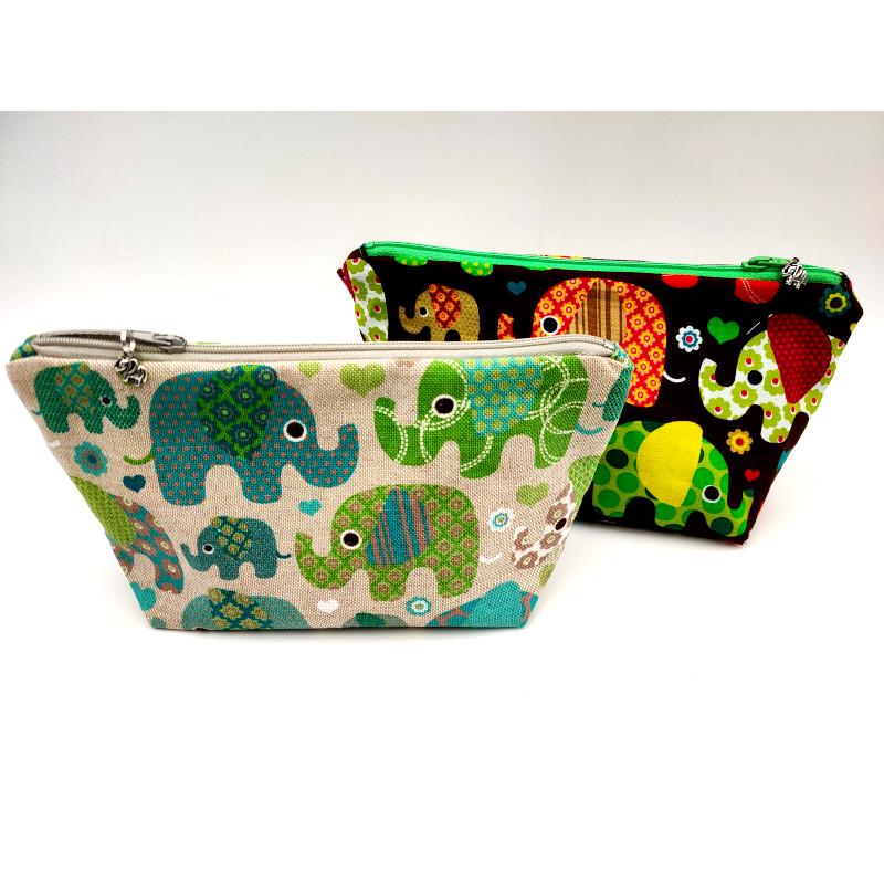 pochettes motifs elephants