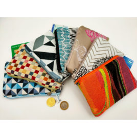 Pochette porte-monnaie tissu coloré